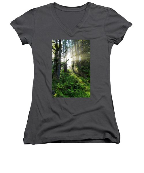 Women's V-Neck T-Shirt (Junior Cut) featuring the photograph Vision by Chad Dutson