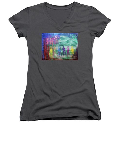 Visions Of Future Beings Women's V-Neck