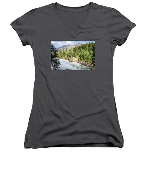Visit Montana Women's V-Neck (Athletic Fit)