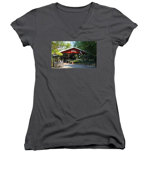 Vito's Farm Stand Women's V-Neck (Athletic Fit)