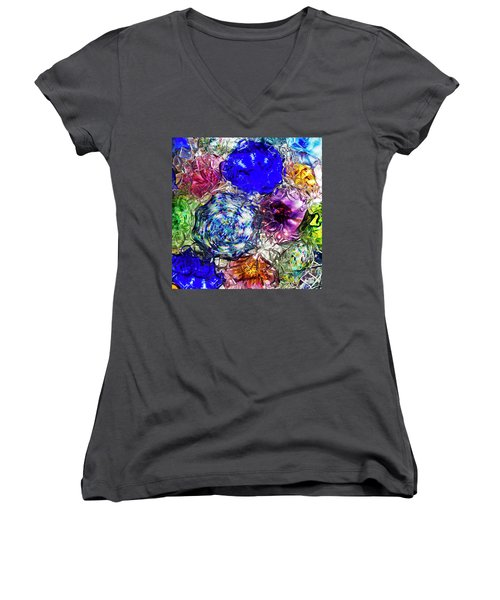Vitreous Flora Women's V-Neck T-Shirt