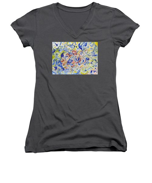 Volcanic Sea Acrylic/water Women's V-Neck