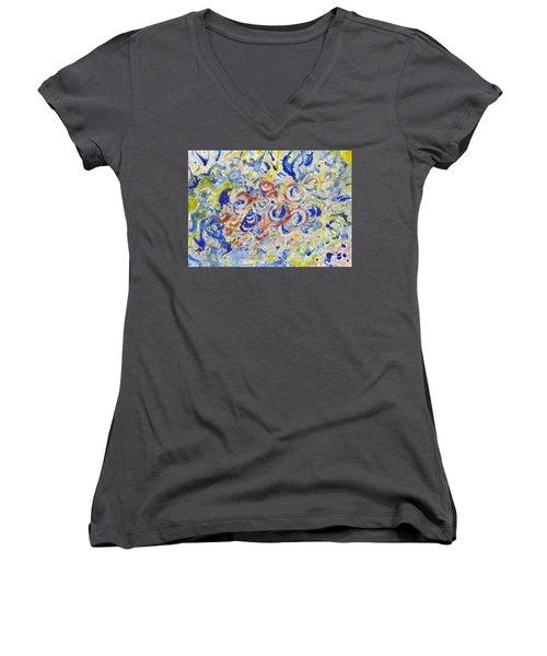 Volcanic Sea Acrylic/water Women's V-Neck