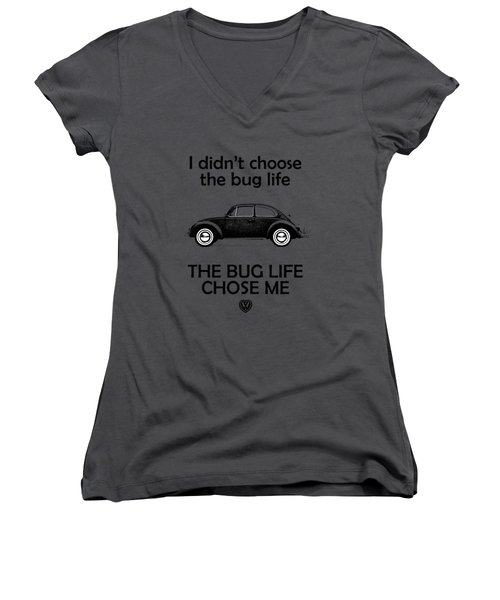 Volkswagen Beetle 1969 Women's V-Neck T-Shirt