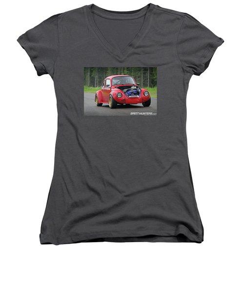 Volkswagen Beetle Women's V-Neck (Athletic Fit)