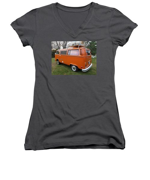 Volkswagen Bus T2 Westfalia Women's V-Neck