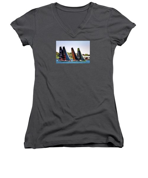 Volvo Ocean Race Newport Ri Women's V-Neck T-Shirt