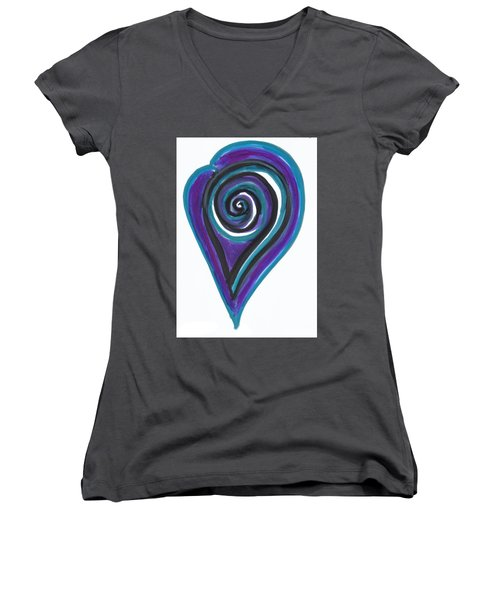 Vortex Wave Women's V-Neck (Athletic Fit)