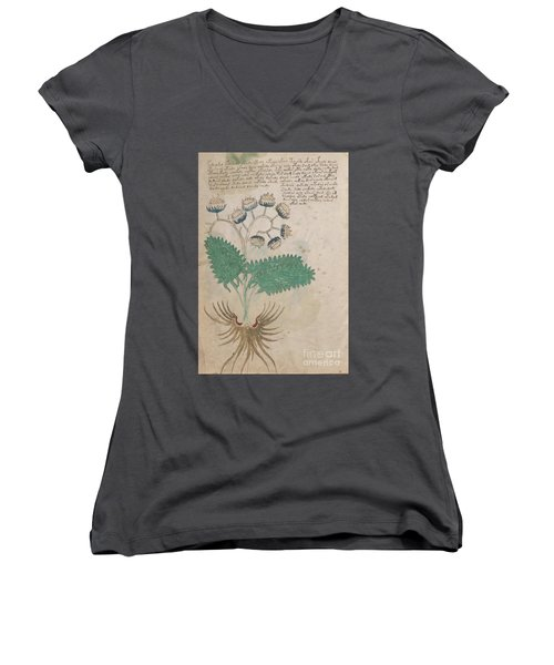 Voynich Flora 14 Women's V-Neck (Athletic Fit)