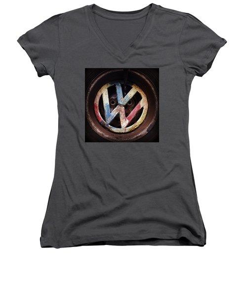 VW Women's V-Neck T-Shirt (Junior Cut) by Joseph Skompski