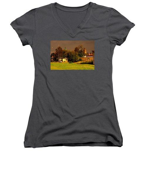Wachock/poland/-general View Women's V-Neck T-Shirt