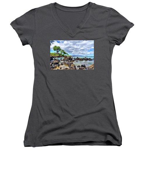 Wailea Beach #2 Women's V-Neck T-Shirt