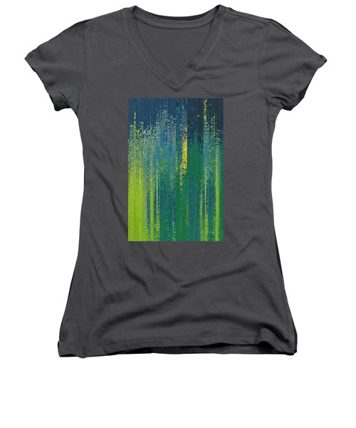 Wait For God. Lamentations 3 25 Women's V-Neck T-Shirt