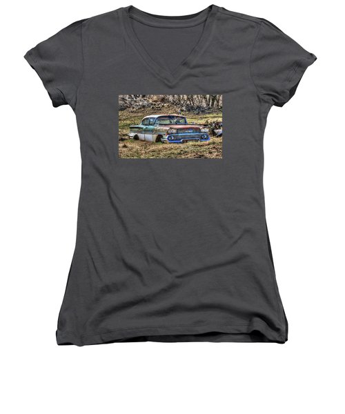 Waiting For A Tow Women's V-Neck T-Shirt