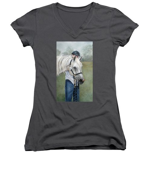 Waiting Women's V-Neck (Athletic Fit)