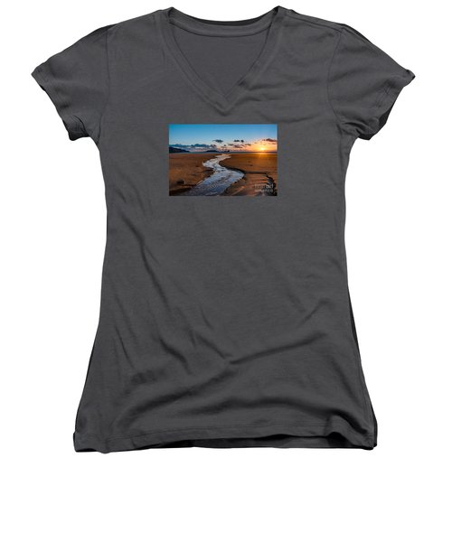 Wales Gower Coast Women's V-Neck (Athletic Fit)