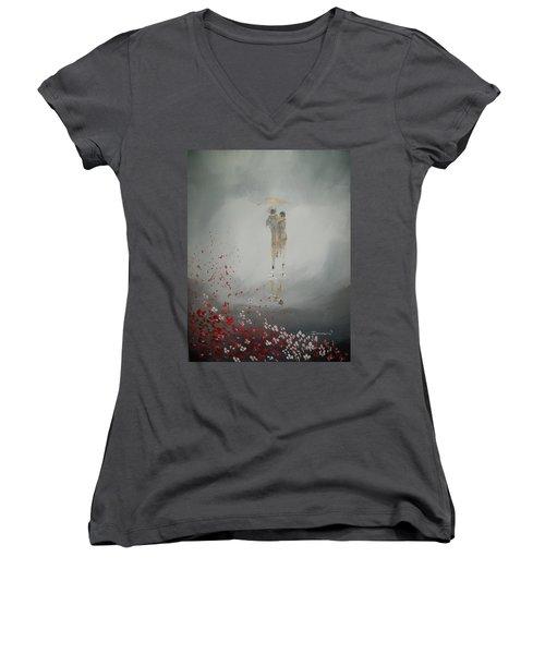 Walk In The Storm Women's V-Neck T-Shirt