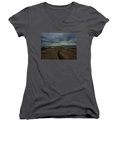 Walk To The Sea Women's V-Neck