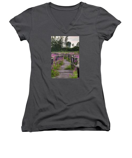 Walking In Magic... Women's V-Neck
