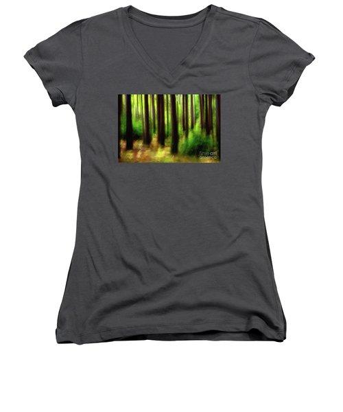 Walking In The Woods Women's V-Neck