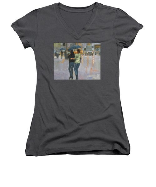 Walking With You Women's V-Neck (Athletic Fit)