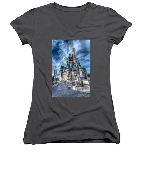Walkway To Cinderellas Castle Women's V-Neck T-Shirt