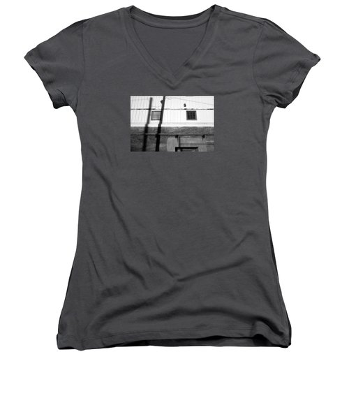 Wall Widows  Shadow 2 Women's V-Neck (Athletic Fit)