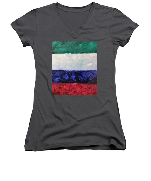 Walls Of The New Jerusalem Women's V-Neck T-Shirt