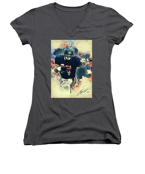 Walter Payton Women's V-Neck T-Shirt