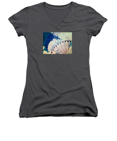 Women's V-Neck T-Shirt (Junior Cut) featuring the photograph Wander And Explore by Robin Dickinson
