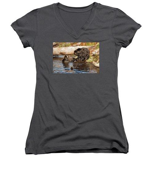 Wanna Have My Toy Women's V-Neck T-Shirt (Junior Cut) by Sabine Edrissi