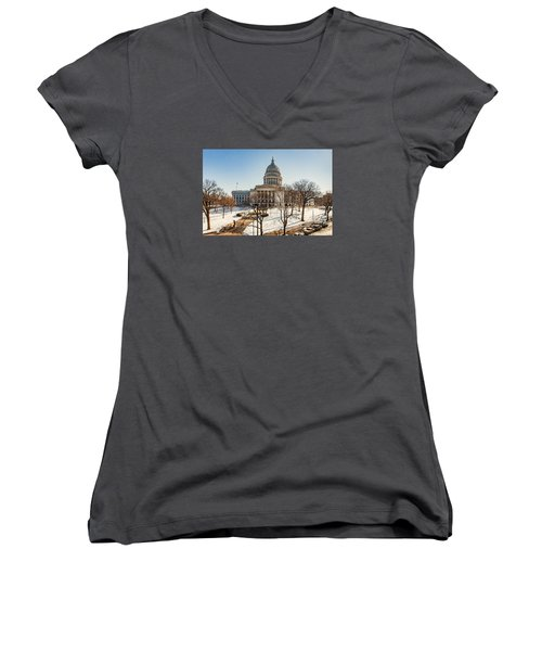 Warm Winter Capitol Women's V-Neck (Athletic Fit)