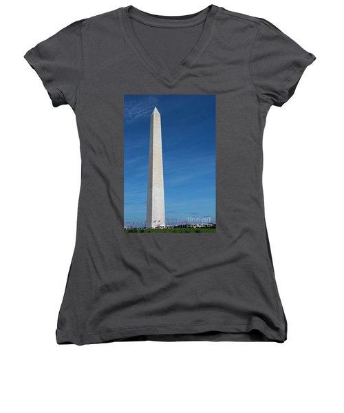 Washington Monument Women's V-Neck