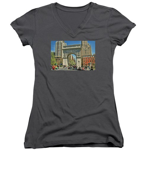 Washington Square Park - N Y C Women's V-Neck