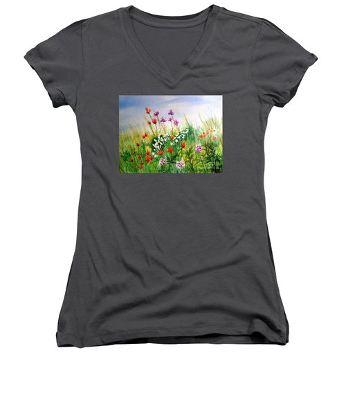 Washington Wildflowers Women's V-Neck