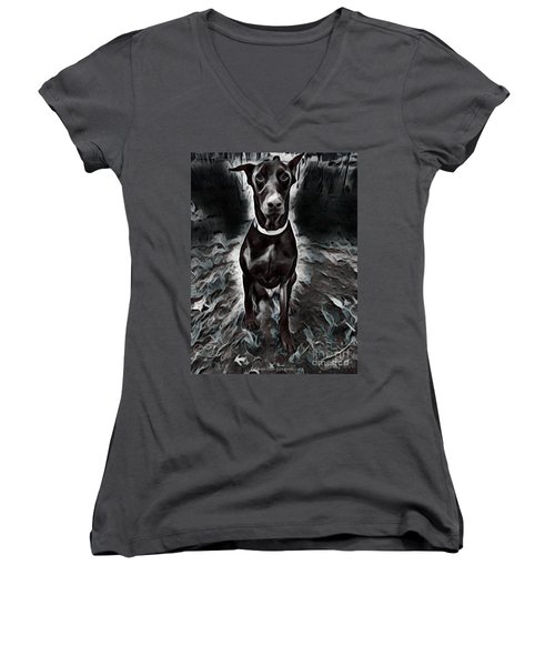 Watch For Me On Halloween Women's V-Neck (Athletic Fit)