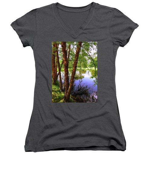 Water Birch Women's V-Neck T-Shirt