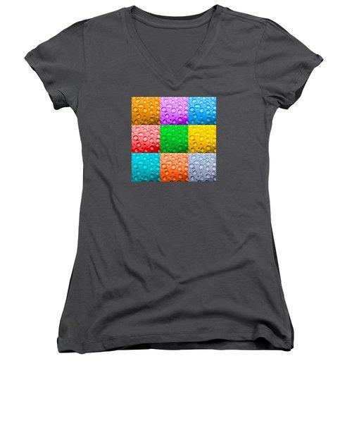 Women's V-Neck T-Shirt (Junior Cut) featuring the photograph Water Color by DJ Florek
