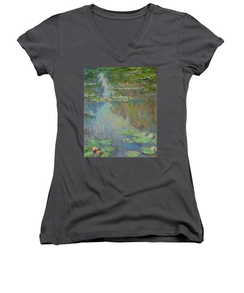 Water Lilies  Women's V-Neck T-Shirt