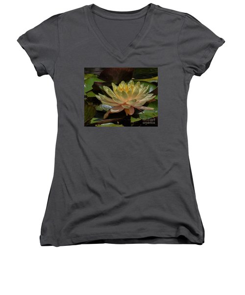 Water Lilly 1 Women's V-Neck (Athletic Fit)