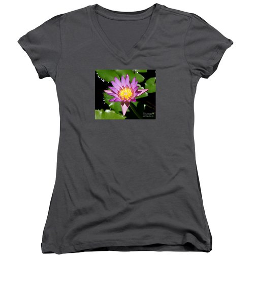 Water Lily 8 Women's V-Neck T-Shirt