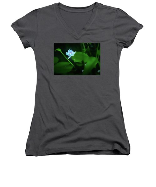 Water Lily N Pond Women's V-Neck T-Shirt
