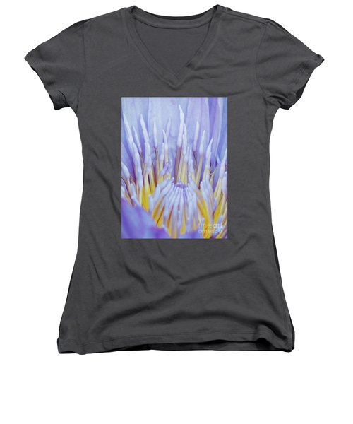 Water Lily Nature Fingers Women's V-Neck T-Shirt