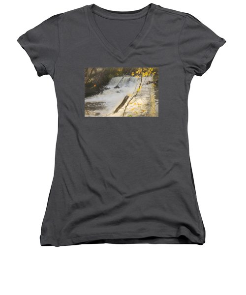 Water Over The Dam. Women's V-Neck