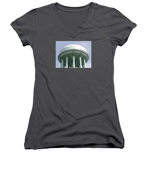 Water Tower Women's V-Neck T-Shirt (Junior Cut) by  Newwwman