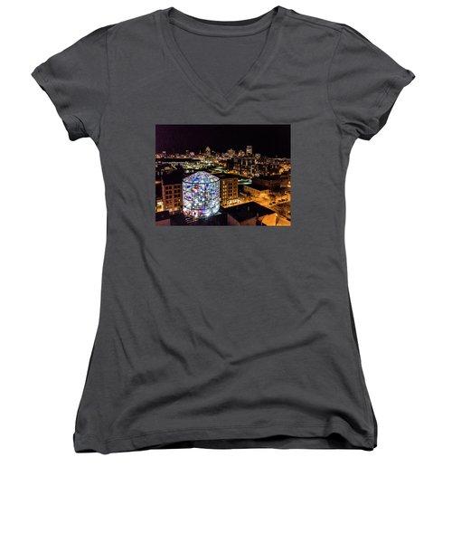 Water Tower Skyline Women's V-Neck