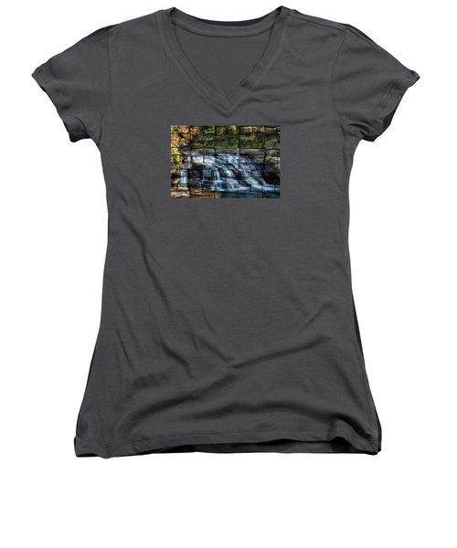 Water Wall Women's V-Neck T-Shirt