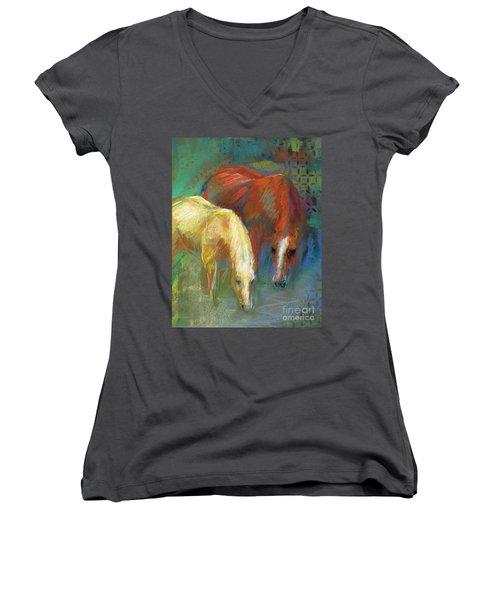 Waterbreak Women's V-Neck T-Shirt (Junior Cut) by Frances Marino