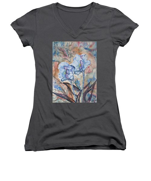 Watercolor - Orchid Impression Women's V-Neck