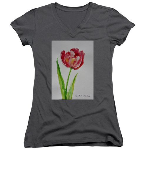 Watercolor Series No.  228 Women's V-Neck (Athletic Fit)